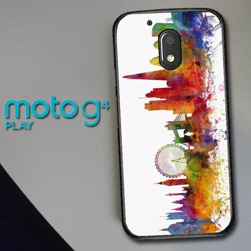 London Skyline Watercolor V0202 Motorola Moto G4 Play Case