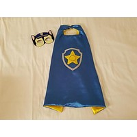 Chase Paw Patrol Cape and Mask