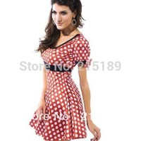 Christmas Dress Red White Dot Y Minnie Mouse Ad