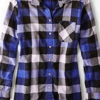 AEO 's Plaid Jegging Shirt