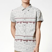 Rang Tribal Pocket Short Sleeve Button Up Shirt