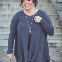 Call Me Cute Plus Size Top in Ash Grey