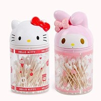 Xingkings New Hello Kitty cartoon case cartoon cotton swab box toothpick dual storage case home KX-P7077