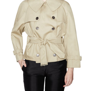 Golden Goose Women's Riyo Cotton Short Trench - Beige/Khaki -