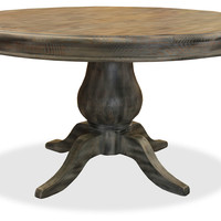 French Round Dining Table, Gray