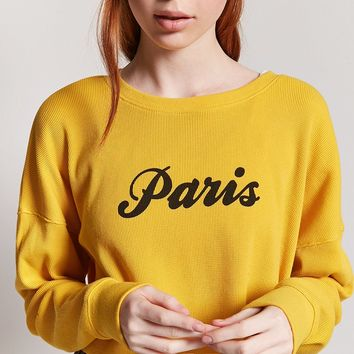 Paris Graphic Crop Top