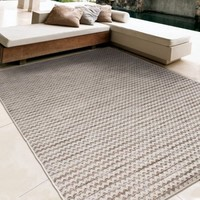 Better Homes and Gardens Indoor/Outdoor Woven Lines Ivory Area Rug - Walmart.com