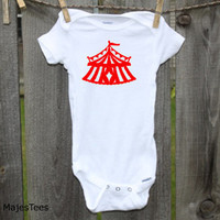 Circus Tent Onesuits®, Circus Baby Shower, Big Top