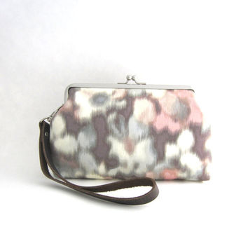 Frame Wristlet Clutch purse - watercolor pastel