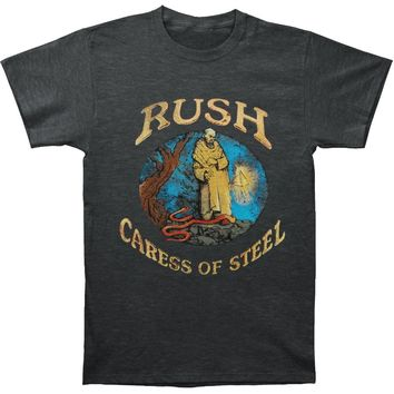 Rush Men's  Caress Of Steel Charcoal Tee Slim Fit T-shirt Heather Charcoal
