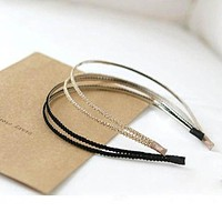 1 pc Fashion Metal Crystal Headband Head Piece Hairbands Hair Band Jewelry Accessories for Women