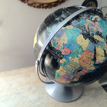"vintage rare 12"" replogie starlight black globe"