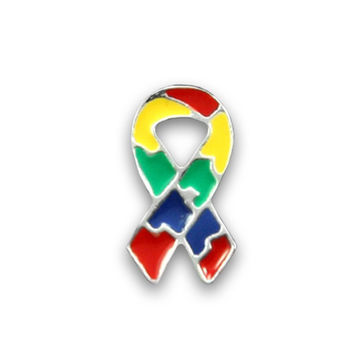 Small Flat - Autism and Aspergers Ribbon Pin