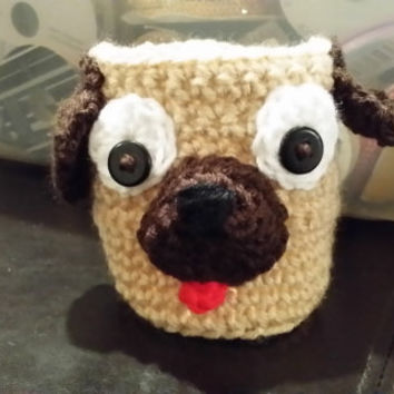 Pug Beer Can Cozy