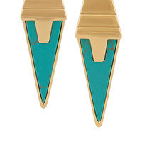 Eddie Borgo - Gold-plated turquoise earrings