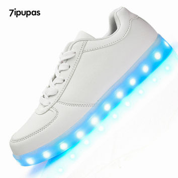 7ipupas New Led Shoes Men&Unisex Luxe Brand Casual Light up Led Calzado Hombre Cheap Top Chaussure Femme Lumineuse For Adults
