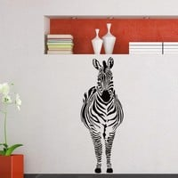 Wall Decal Vinyl Sticker Wild Animal Zebra Decor Sb459