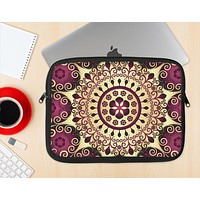 The Mirrored Gold & Purple Elegance Ink-Fuzed NeoPrene MacBook Laptop Sleeve