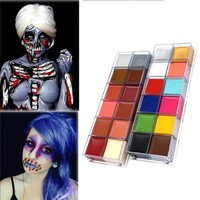 DCCKHY9 IMAGIC halloween props lot Body Face Oil Painting Paint 12 Colors Party Make Up Guide Rainbow Halloween Party Fancy Kit Set DIY