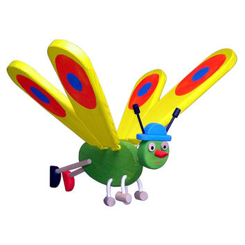 Flying Butterfly Wooden Mobile Toy