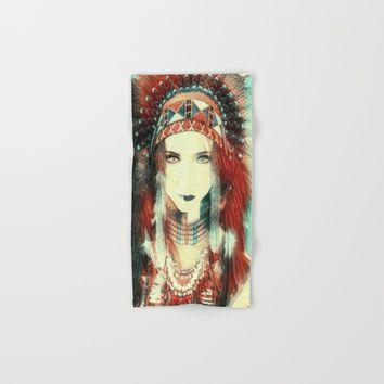 Cherokee Indian Spirit Hand & Bath Towel by Art Appreciation