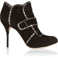 Sophia Webster | Metallic leather-trimmed suede ankle boots | NET-A-PORTER.COM