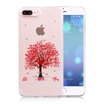 Tree Pressed Flower Case Real Dried Flowers Phone Case LIMITED Handmade Cover for iPhone 7 7Plus & iPhone se 5s 6 6 Plus +Gift Box 263