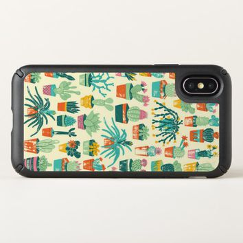 Colorful Cactus Flower Pattern Apple iPhone X Case
