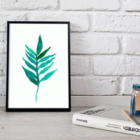 Tropical leaf print, tropical print, tropical palm leaf print, leaf download, botanical print, botanical art, leaf art, leaf, printable,