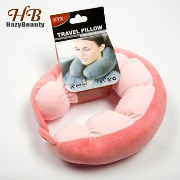 Portable Super Soft Travel Neck Pillow 2018 Head Rest U Type Pillow Healthy Office Airplane Cushion for Sleep Home Decoration