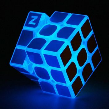 Fifget Cube 2x2x2 3x3x3 4x4x4 Luminous Magic Speed Cube Educational Toys Puzzles Cube Glow In The Dark Magic Neo Cubes for Cuber
