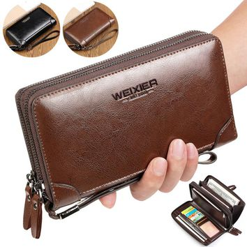 New Business wallet Clutch Coin pocket purse Casual portfolio Passport wallets Large capacity multi-card bit high quality wallet