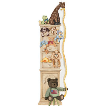 York Wallcoverings MP4960M Mural Portfolio II Custom Plush Toy Growth Chart Mural