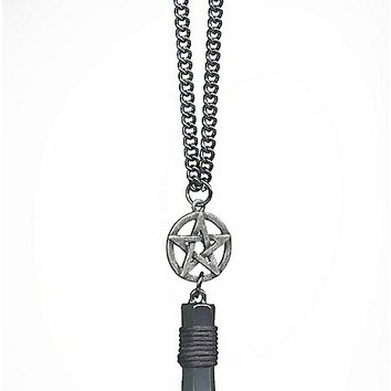 Pentagram Crystal Necklace - Spencer's