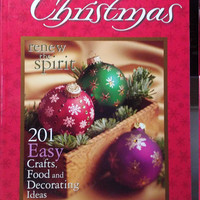 Simply Christmas Book, 201 Easy Crafts, Food, Decorating Ideas, How to Book, Renew the Spirit, Hardback Book, Christmas Book, Gift Idea