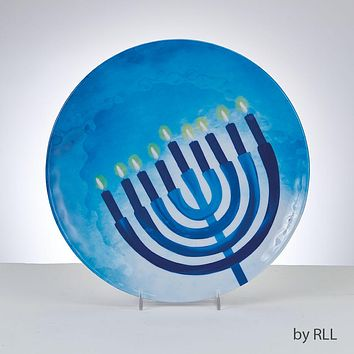 CHANUKAH'SAPPHIRE COLLECTION'MELAMINE ROUND PLATE,11',6/DISPL