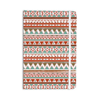 "Nika Martinez ""Boho Mallorca"" Red Multicolor Everything Notebook"