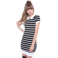 PETER PAN STRIPED DRESS