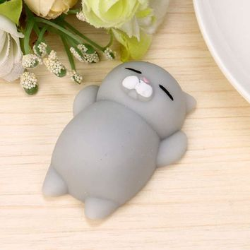 Slime Finger Toys Squishy Mini Kawaii Squeeze Stretchy Animal Healing Stress White Gray Cat Animals For kid Antistress Hand Toys