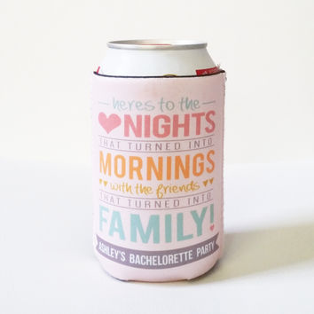 Drink Koozies - Here's to the Nights That Turned Into Mornings Can or Bottle Koozie