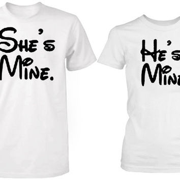 shes mine hes mine tshirt couple ----- size S,M,L,XL,2L,3XL