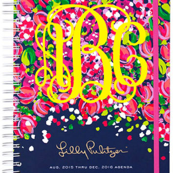 Wild Confetti Print - Monogrammed 2015-2016 Lilly Pulitzer Large Agenda