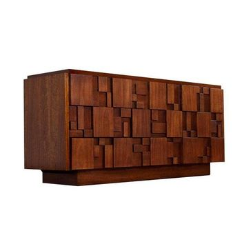 Pre-owned Restored Mid-Century Lane Brutalist Dresser