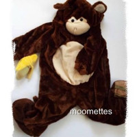Monkey Halloween Costume Banana Kids Toddler Baby Size 12 18 24 mo months 2T