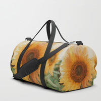 sunflower Duffle Bag by vanessagf