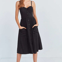 Cooperative Emilia A-Line Button-Down Midi Dress | Urban Outfitters
