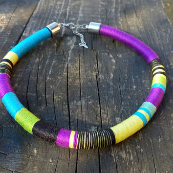 Choker, African Necklace, Tribal Necklaces, Rope Choker, Collier Africain, Aztec Necklace, African Choker, for Her, African Jewelry