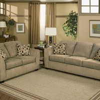 A.M.B. Furniture & Design :: Living room furniture :: Sofas and Sets :: Sofa Sets :: 2 pc Edge mineral colored fabric upholstery sofa and love seat set