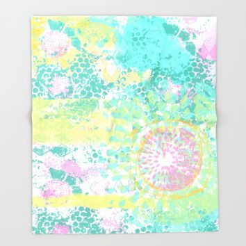 Flower Power Throw Blanket by Bestree Art Designs