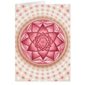Flower Star Rangoli Design Sacred Geometry Card